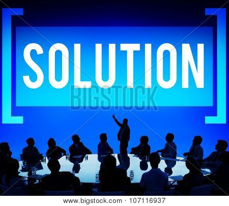 Solution Solving Problem Resolve Strategy Concept