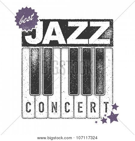 jazz concert. art concert. vector illustration.