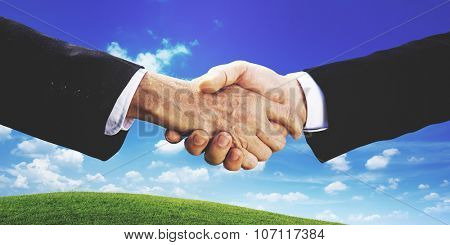 Business People Hand Shake Partnership Togetherness Deal Concept