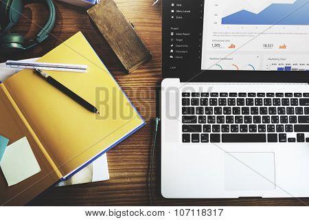 Digital Marketing Data Information Finance Concept