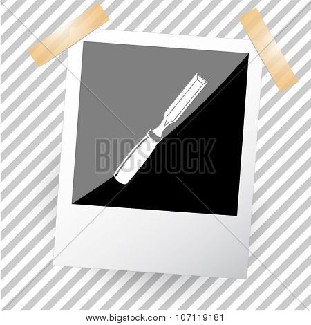 chisel. Photoframe. Vector icon.