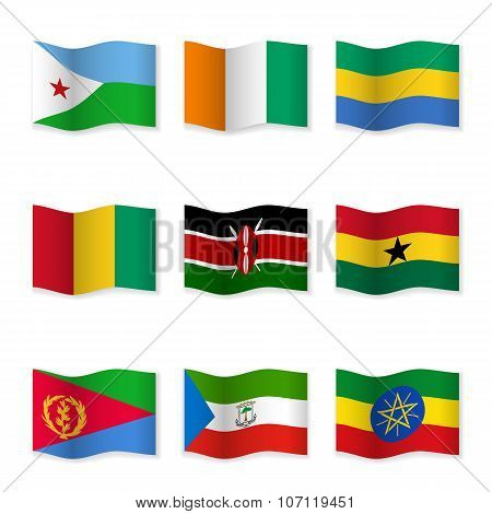 Waving Flags Of Different Countries