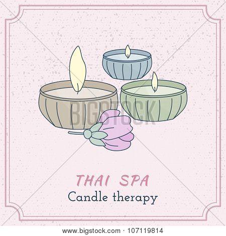 Hand Drawn Thai Massage And Spa Design Elements.