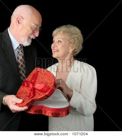 San Valentín romántico Seniors