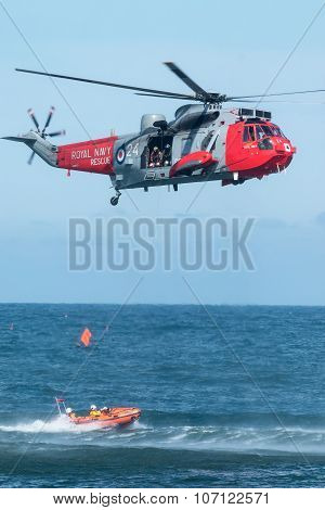 Royal Navy Sea King Rescue Helicopter