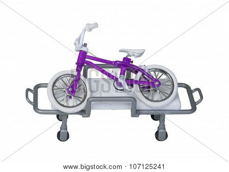 Bicycle Laying On A Hospital Gurney