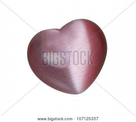 Iridescent Pink Heart Stone