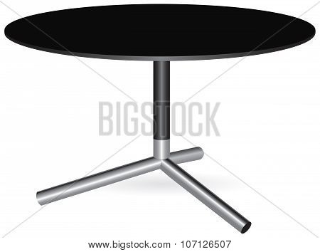 Round Table With A Central Leg