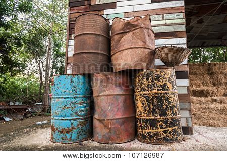the old oil tanks