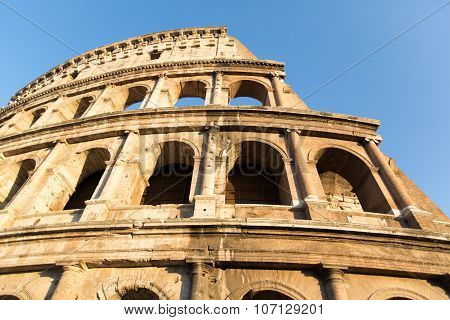 ROME - JULY 21, 2015: Great Colosseum (coliseum), Rome, Italy