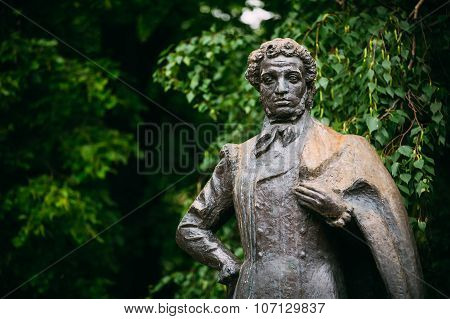 Monument great poet Alexander Pushkin in Moscow, Russia