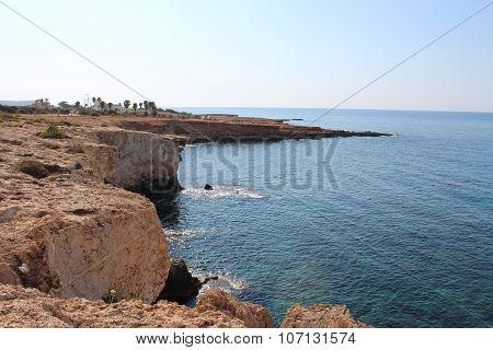 Iron-bound coast in Ayia Napa, Cyprus.