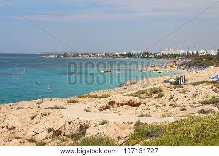 Glyki Nero Beach and Pantachou Beach in Ayia Napa, Cyprus.