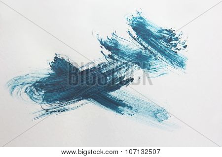 Blue Brush Stroke 2
