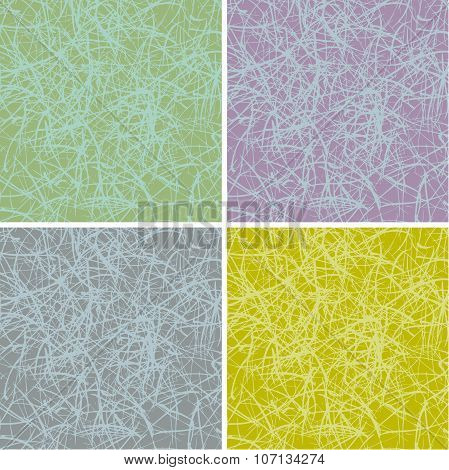 Grunge Scratched Surface Background In Multiple Colors