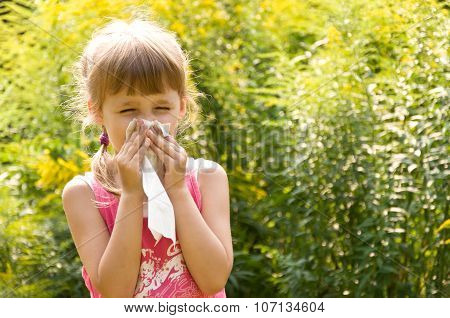 Girl Is Allergic To Flowers