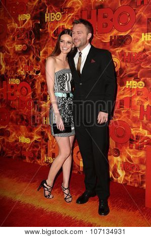 LOS ANGELES - SEP 20:  Lydia Hearst, Chris Hardwick at the HBO Primetime Emmy Awards After-Party at the Pacific Design Center on September 20, 2015 in West Hollywood, CA