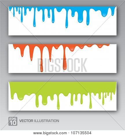 Paint colorful dripping background vector illustration