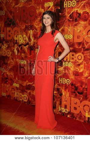LOS ANGELES - SEP 20:  Alexandra Daddario at the HBO Primetime Emmy Awards After-Party at the Pacific Design Center on September 20, 2015 in West Hollywood, CA