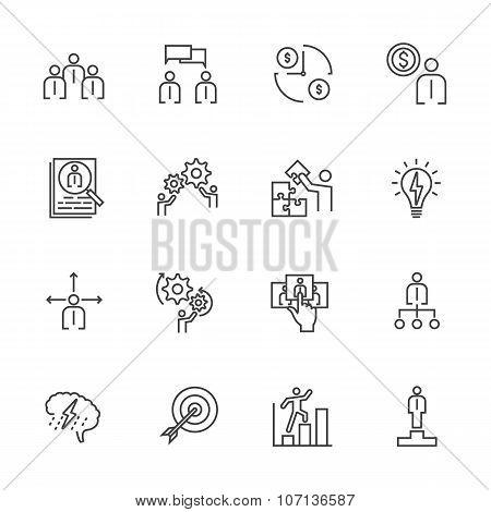 Business Icons Set, Team building concept