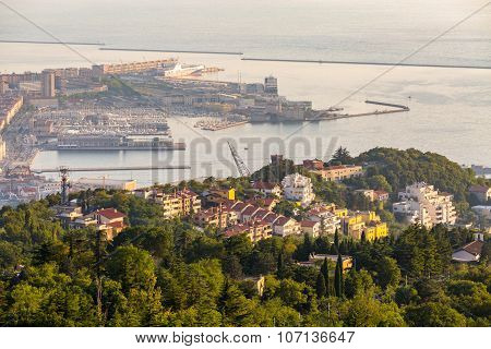View On The Bay In Trieste