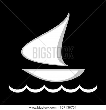 Illustration Of Logo Floating Ship