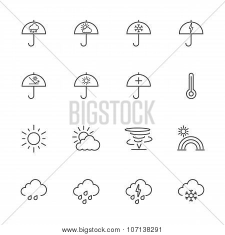 Line icons. Weather