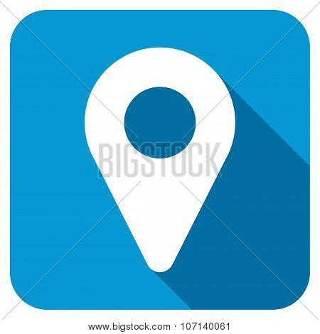 Map Marker Longshadow Icon