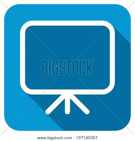 Presentation Screen Longshadow Icon