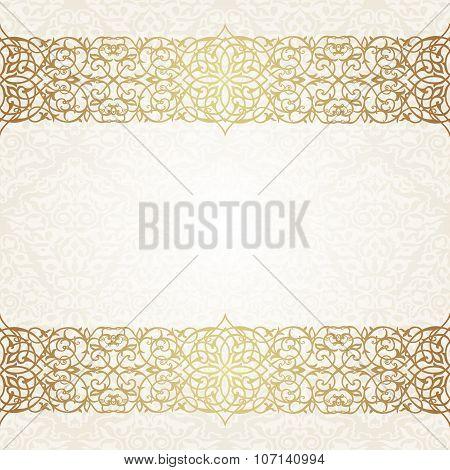 Eastern filigree ornament background.
