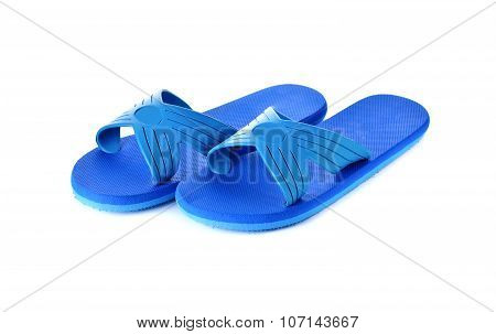 Sandals Flip Flops On White Background
