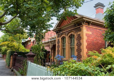 MELBOURNE - MARCH 19, 2015: Victorian house.