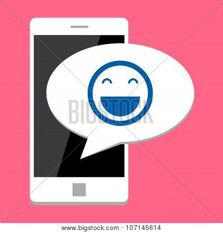 Mobile phone with smile bubble