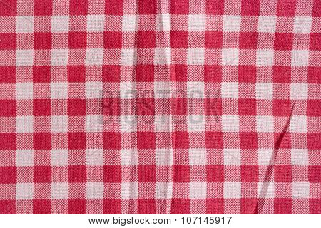 Red And White Fabric Texture.