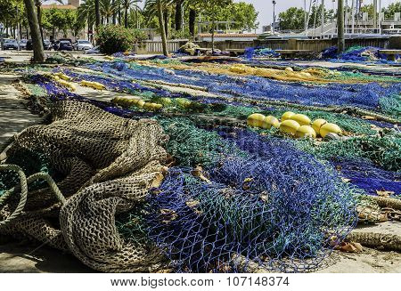 Fishing Net In The Port, Background