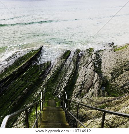Stairs In The Cliff