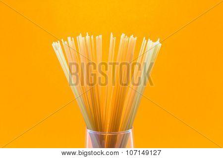 Dry Pasta In Glass