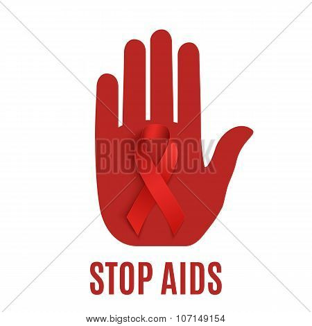 Stop AIDS background template.