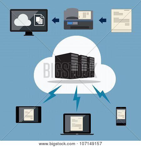 Big data. Cloud document storage