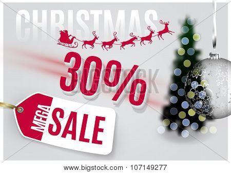 Vector Christmas Tag