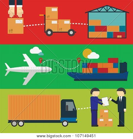 Logistic Infographics for Web or Mobile aplication