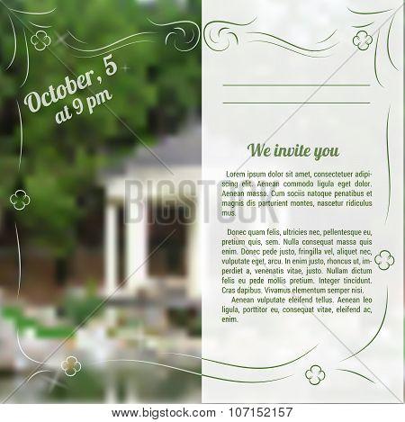 Template Of Invitation To Celebration