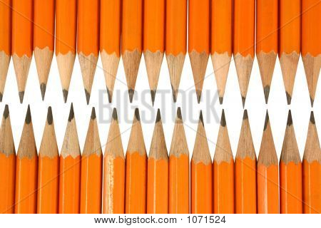 Orange Pencil Tips Close Up