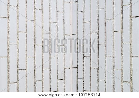 Background Of White Rectangle Brick Wall