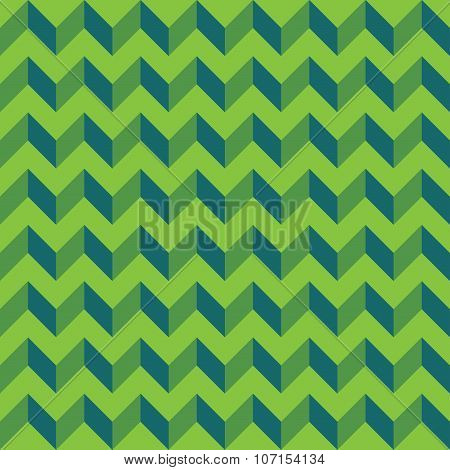 Vector modern seamless colorful geometry chevron lines pattern color green abstract