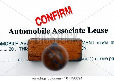 Automobile Lease Form