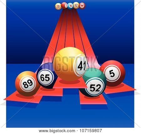 Bingo Balls Over 3D Stripes