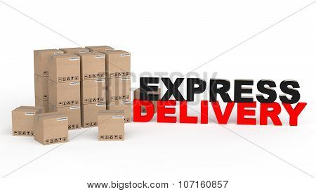 3d carton boxes express delivery
