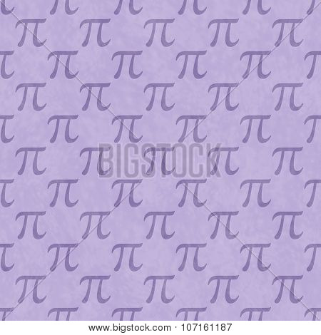 Purple Pi Symbol Design Tile Pattern Repeat Background