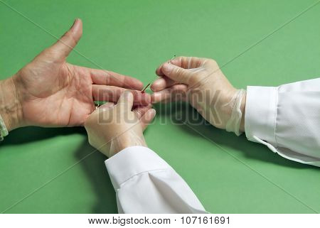 Blood Test On The Finger